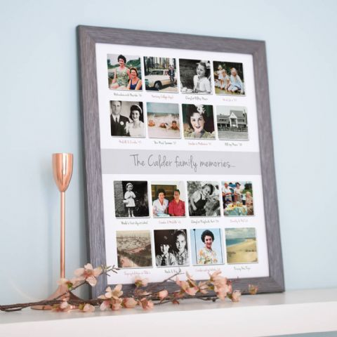 Personalised Past Memories Photo Collage